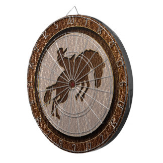 Leather-Look Rodeo Dart Board