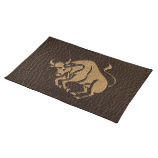 Leather-Look Taurus Placemat