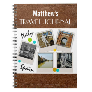 Leather Look Travel Journal and Photos Note Books