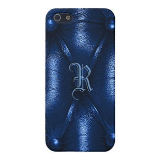 Leather monogram iPhone 5/5S case