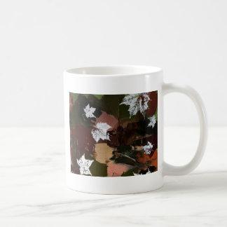 Leaves Camo Print Basic White Mug