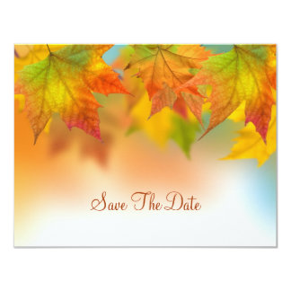 Leaves of Autumn Save The Date Card