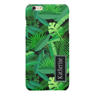 Leaves Of Tropical Palm Trees | Add Your Name