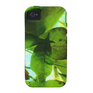 Leaves on blue sky iPhone 4 cover
