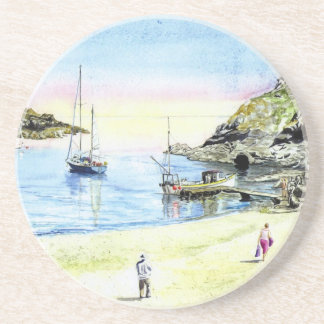 'Leaving at Low Tide' Coaster