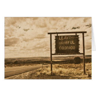 leaving colorful colorado card