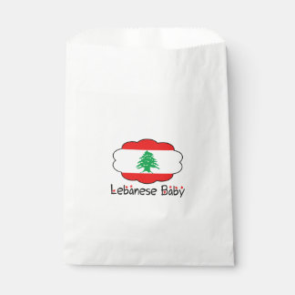 Lebanese Flag Baby Favor Bag Favour Bags