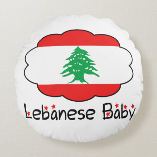 Lebanese Flag Pillow for Baby