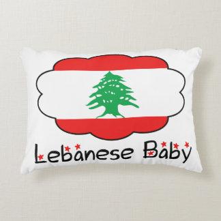 Lebanese Flag Pillow for Baby