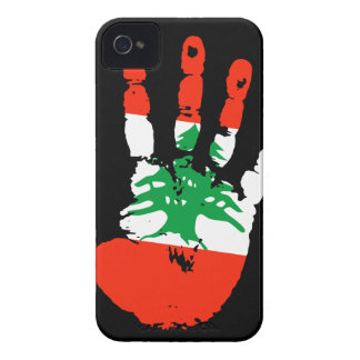 Lebanon Handprint iPhone 4 ID Case-Mate