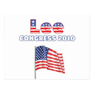 Lee Patriotic American Flag 2010 Elections Postcard