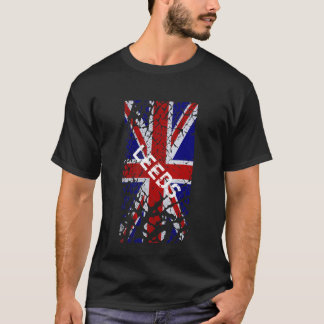Leeds Vintage Peeling Paint Union Jack Flag T-Shirt