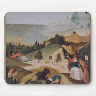 Left wing of the Triptych of the Temptation of Mouse Pad