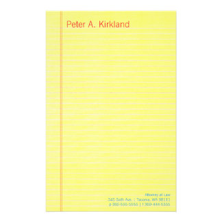 Legal Pad Personalised Stationery