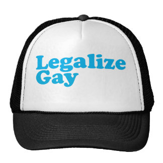 Legalize gay baby blue cap