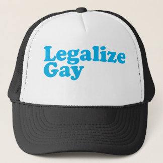 Legalize gay baby blue trucker hat