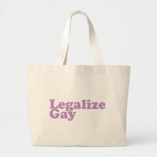 legalize gay lavender large tote bag