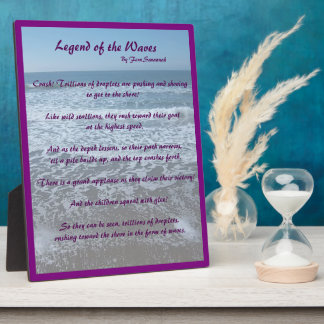 Legend of the Waves - Fern Savannah; purple Plaque