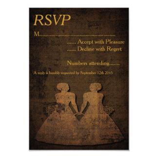 Legendary Love Lesbian Wedding RSVP Card