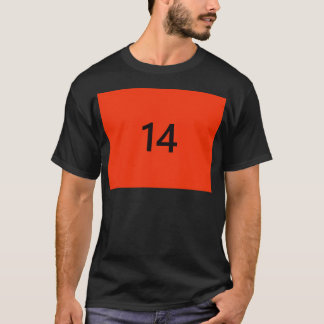 Legendary No. 14 in orange and black T-Shirt