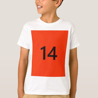 Legendary No. 14 in orange and black T-Shirt
