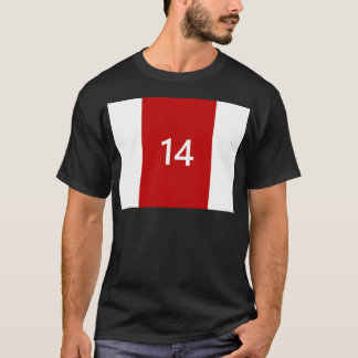 Legendary No. 14 in red and white T-Shirt