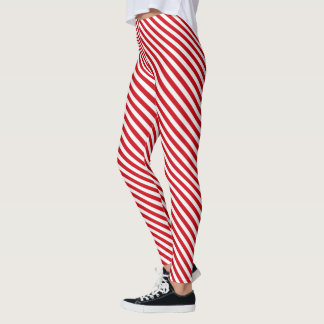 Leggings - All Over - Candy Cane Stripes