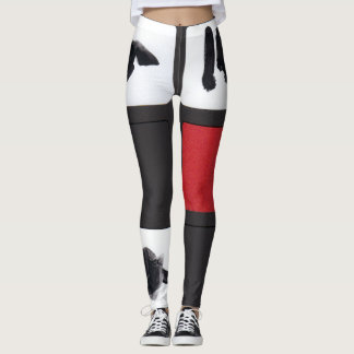 Leggings Red and Black Collection