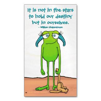 Leggs the Alien, magnetic business card Magnetic Business Cards