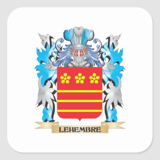 Lehembre Coat of Arms - Family Crest Square Sticker