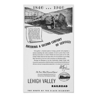Lehigh Valley Railroad-A Second Century of Service Poster