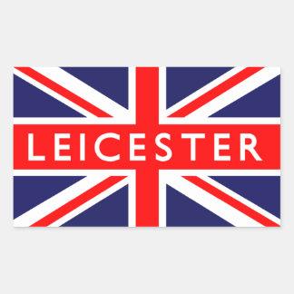 Leicester : British Flag Rectangular Sticker