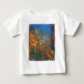 Leicester Square at Night by Claude Monet Baby T-Shirt
