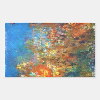 Leicester Square at Night Claude Monet fine art Rectangular Sticker
