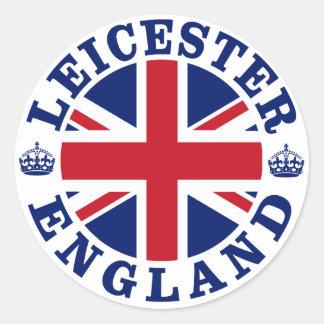 Leicester Vintage UK Design Classic Round Sticker