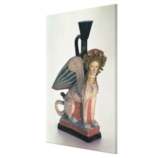 Lekythos in the form of a Sphinx Canvas Print