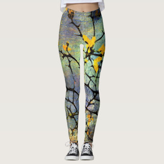 Lemon Blossom Branches Leggings