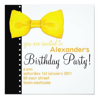 Lemon BowTie Birthday Invitation