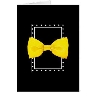 Lemon Bowtie black Card