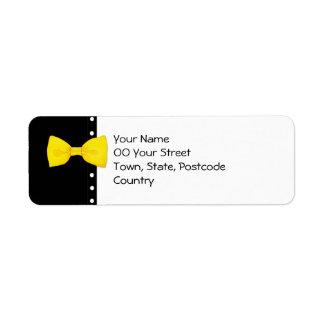 Lemon BowTie Return Address Label