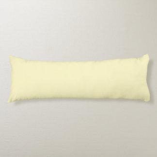 Lemon Chiffon Solid Color Body Cushion