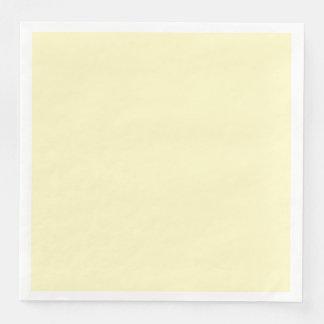 Lemon Chiffon Solid Color Customize It Disposable Napkins