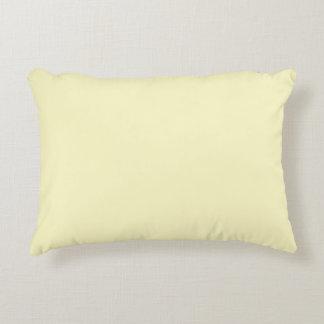 Lemon Chiffon Solid Color Decorative Cushion