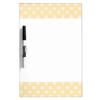 Lemon chiffon yellow polka dots dry erase boards