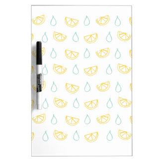 Lemon Drop Pattern Dry Erase Board