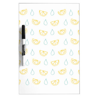 Lemon Drop Pattern Dry Erase White Board