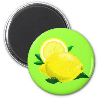 Lemon Drops 6 Cm Round Magnet