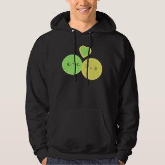 Lemon Lime Heart Kawaii hoodie