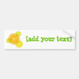 Lemon/orange Bumper Sticker