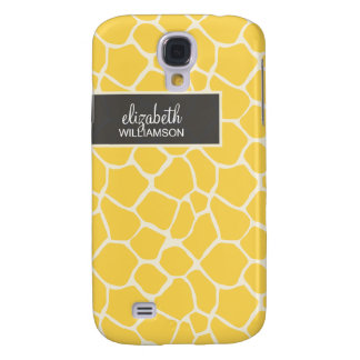 Lemon Yellow Giraffe Pern Galaxy S4 Case